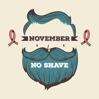 Vintage movember no shave background