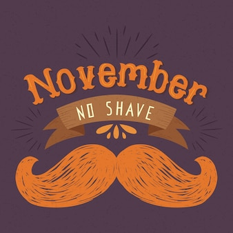 Vintage movember no shave moustache background