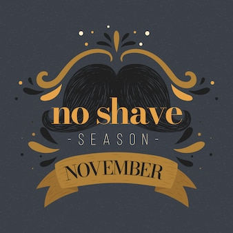 Vintage movember no shave season background