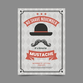 Vintage movember poster template