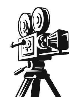 ヴィンテージ映画フィルムカメラレトロ。