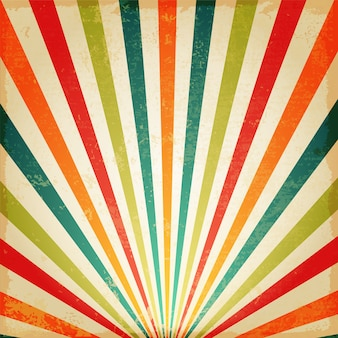 Vintage Multicolor rising sun or sun ray, sun burst retro background design