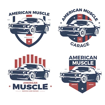 Vintage Muscle Car Logo Collection