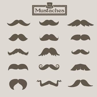 Vintage mustache.