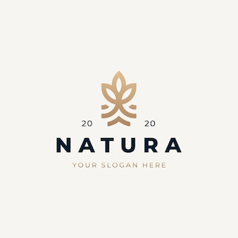 Vintage natural logo design