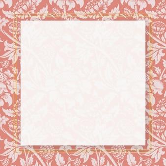 ヴィンテージ自然飾りフレームパターン