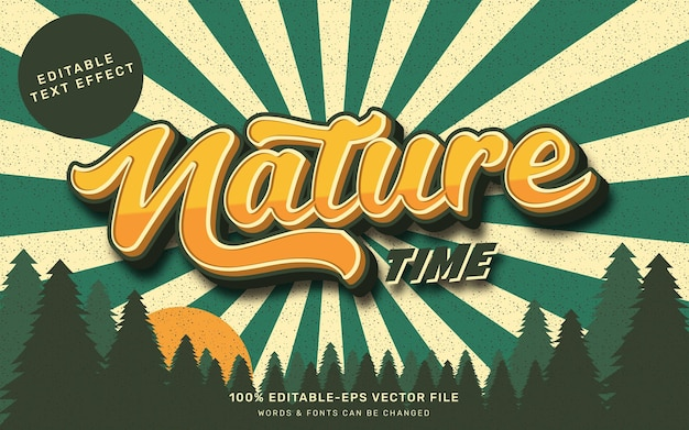 Vintage nature text effect