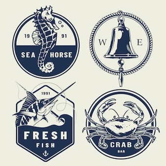 Collezione di etichette nautiche vintage