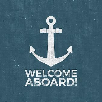 Vintage nautical logo