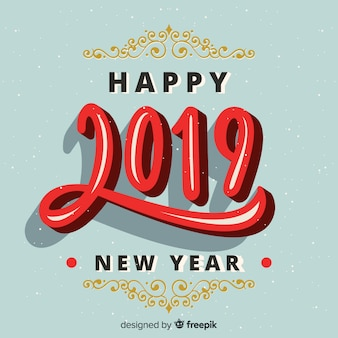 Vintage new year 2019 background