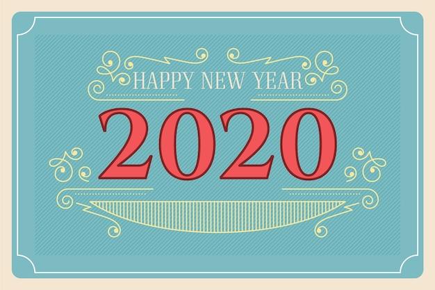 Vintage new year 2020 background