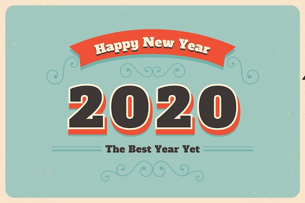 Vintage new year 2020 wallpaper