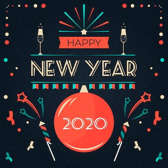 Vintage new year 2020