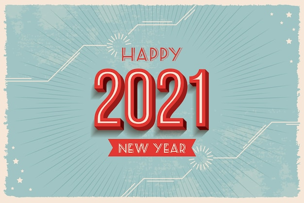 Vintage new year 2021 background