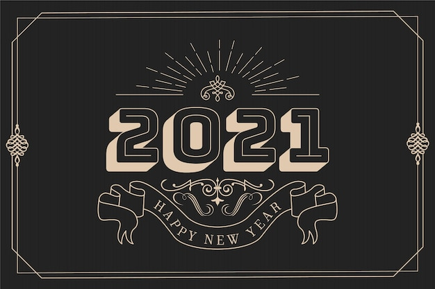 ヴィンテージ新年2021背景