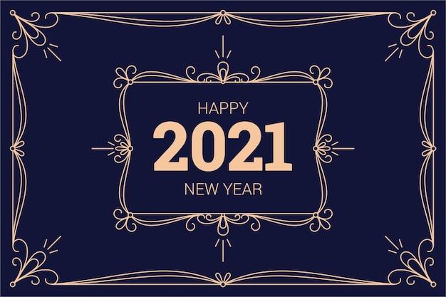 Vintage new year 2021 background
