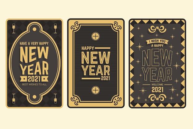 빈티지 새해 2021 카드