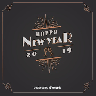 Vintage new year background