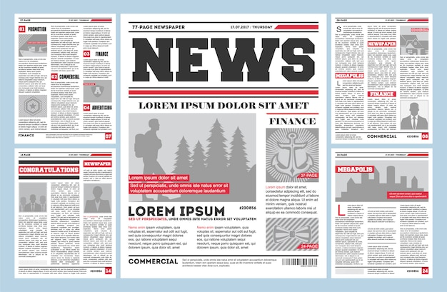 Vintage newspaper journal  template