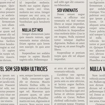 ビンテージ新聞印刷ベクトルのシームレスパターン