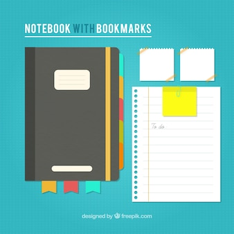 Vintage notebook and sheets