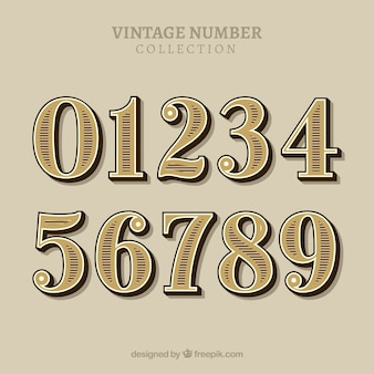 Vintage number collection