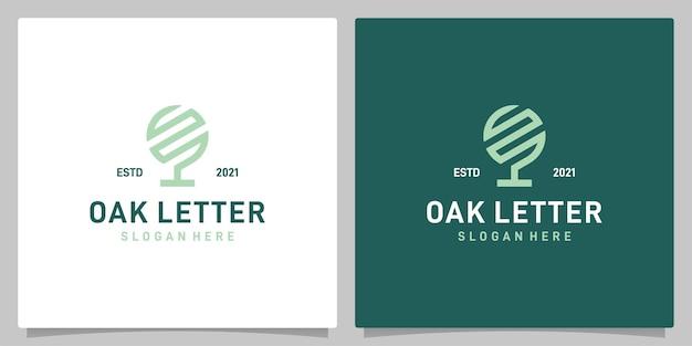편지 s 로고 영감 빈티지 오크 나무 추상 디자인 로고 벡터. 프리미엄 벡터
