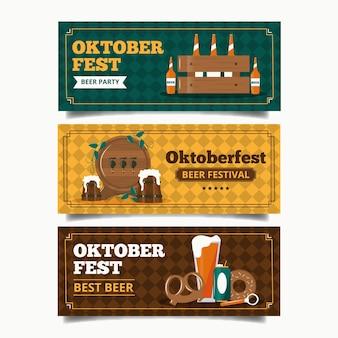 Modello di banner oktoberfest vintage