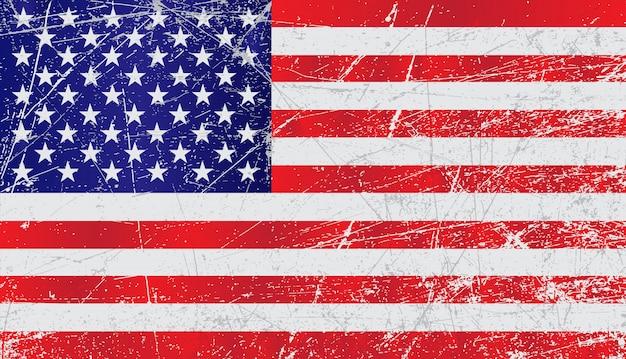 ヴィンテージの古いアメリカの国旗