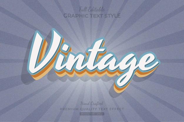 Vintage old editable premium text effect font style