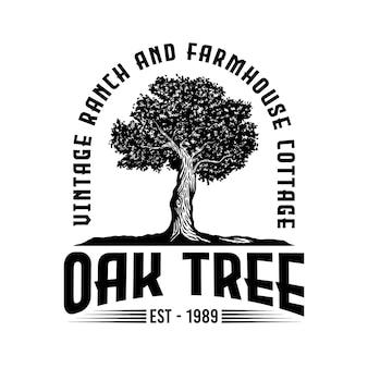 ヴィンテージオールドオークストロングツリー