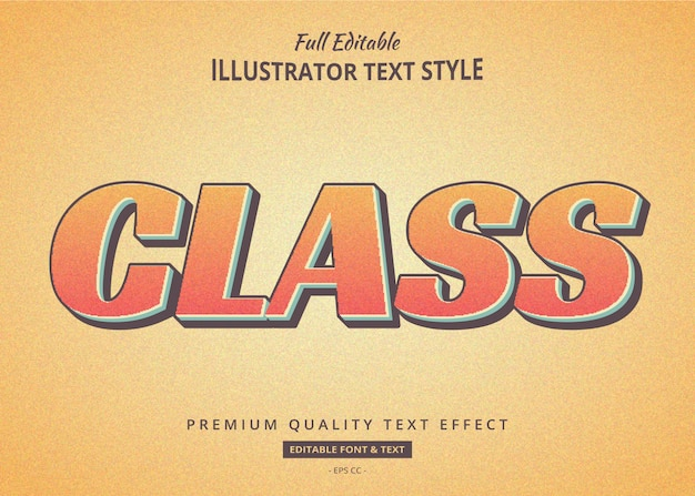 Vintage old texture text effect