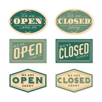 Коллекция старинных открытых и закрытых вывески