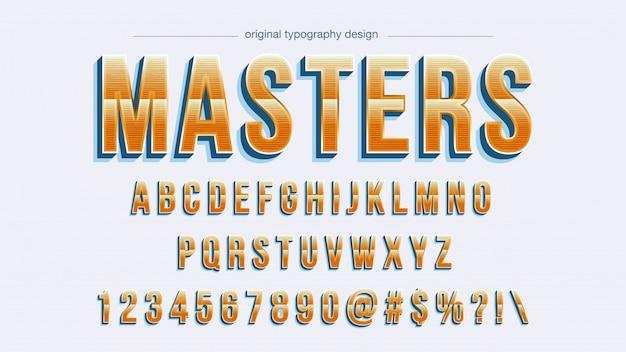 Vintage orange gradient typography