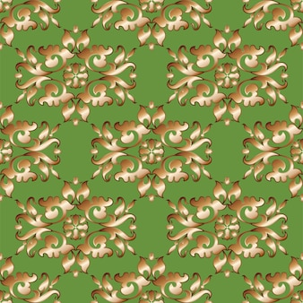 Vintage, oriental seamless background pattern.