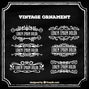 Коллекция старинных украшений с доской