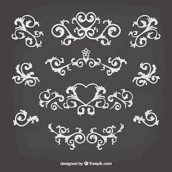 黒板スタイルのヴィンテージ装飾コレクション
