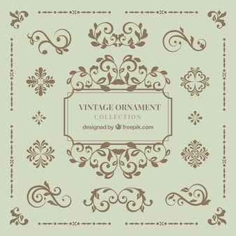 Vintage ornament collection with elegant style
