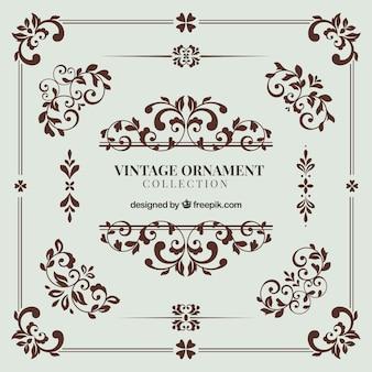 エレガントなスタイルのヴィンテージ装飾コレクション