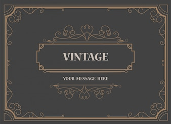 Vintage Ornament Greeting Card Template and retro invitation background