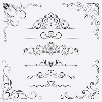Vintage ornament greeting card vector template.