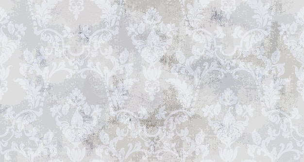Vintage ornament seamless pattern. baroque rococo texture luxury design. royal textile decors