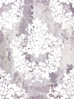 Vintage ornament seamless pattern. baroque rococo texture luxury design. royal textile decors.
