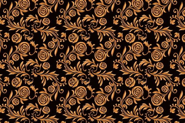 Vintage ornamental arabic floral background