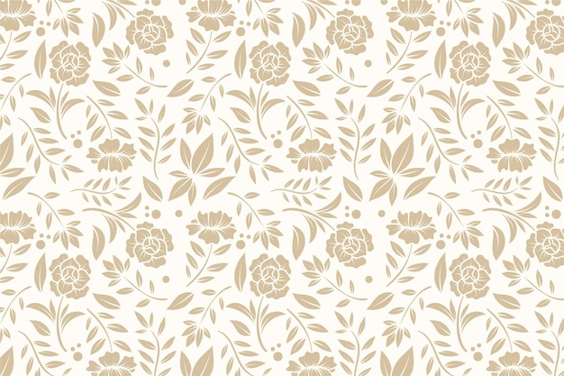 Vintage ornamental background with flowers