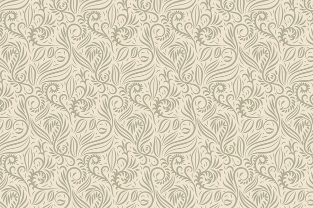Vintage ornamental floral background