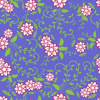 Vintage ornamental flowers background and seamless.