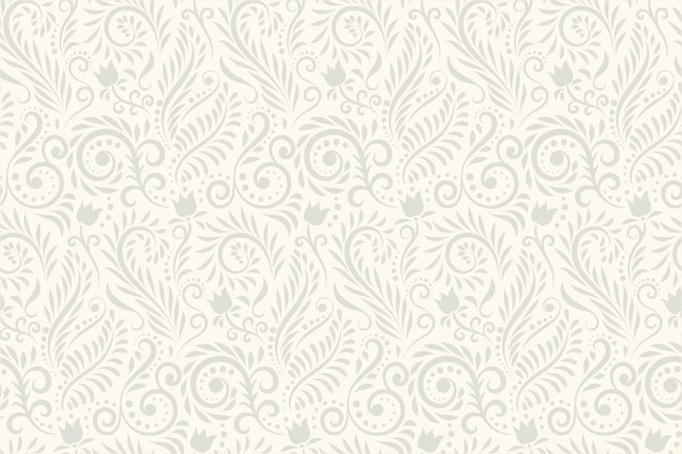 Vintage ornamental flowers background