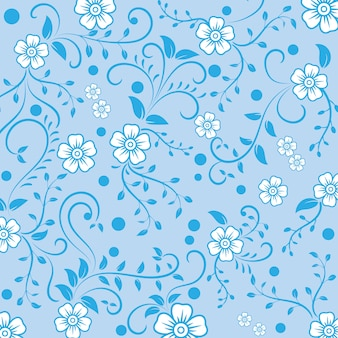 Vintage ornamental flowers pattern background.