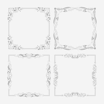 Vintage ornamental frame assortment